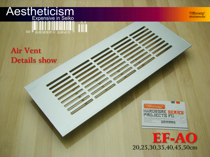 VIBORG 250x80x11 Mm Air Vent Cover For Cupboards/Cabinets & Air-conditioner Vent Cover, EF-AO-25