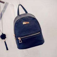Rucksack Fashion Women Backpack For Girls 2016 Preppy Style Backpacks Female Fashion Girls Bags Ladies Black Backpack Dec14