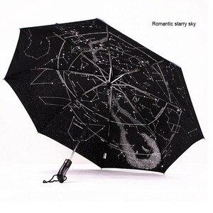 Новый звездный полноавтоматический Зонт rhinoceros, три складных мужских и женских зонта, мини-зонтик для дождя, для женщин, ветрозащитный, с защ...