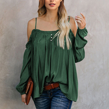 Women's ruffled off shoulder blouse shirt
