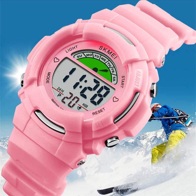 SKMEI Swim 50M Waterproof Children's watch Sports Boy Wristwatch Kids Girl Baby