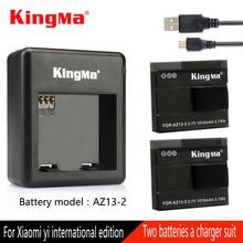 Original Kingma For Xiaomi Yi Battery with Charger For xiaomi yi Action Camera AZ13-2 Battery Xiaomi Yi international
