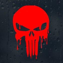 10,1 cm X 15 cm Blutige Punisher Schädel Personalisierte Auto Aufkleber Vinyl Dekorative Decals Rot/Schwarz/Silber C1-5007
