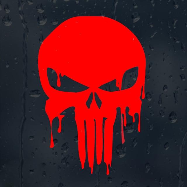 10 1cmx15cm Bloody Punisher Skull Personalized Car