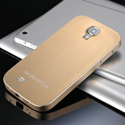 on sale 851a3 9a639 US $16.98 |Luxury Matte Metal Case For Samsung Galaxy S4 i9500 Coque 100%  Aluminum Full Protective Phone Back Cover Accessories with Screws on ...