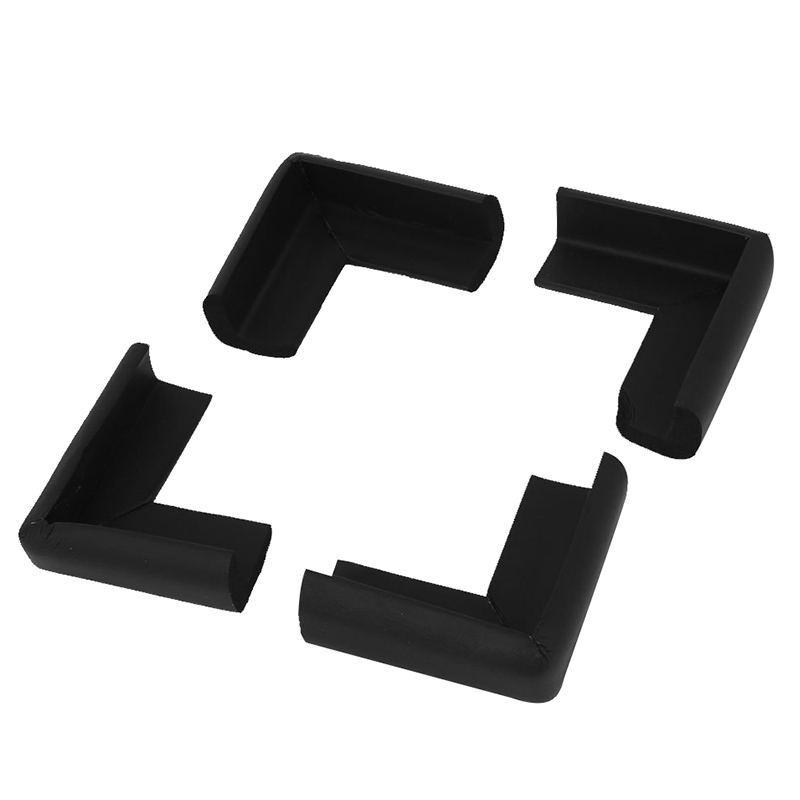 MACH Table Cupboard Worktop Corner Cover Protector Cushion 4 Pcs Black