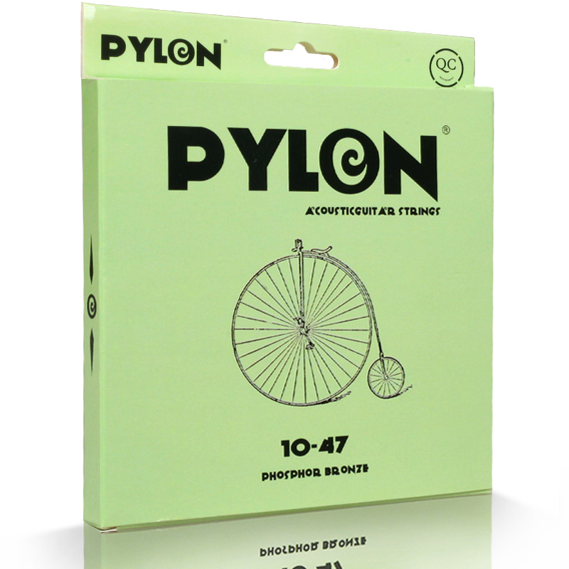 Pylon Phosphor Bronze Acoustic Guitar Strings with extra 1st String