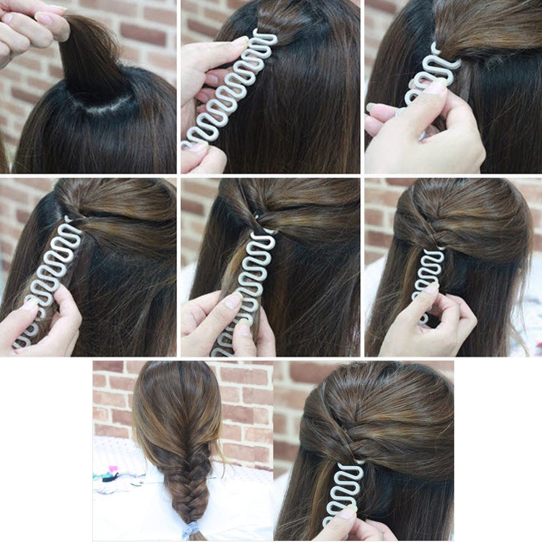 Diferent Sizes Hair Braiding Tool Fish Bone Braider Roller Twist Styling Bun Maker Weave Roller Band Hair Styling Hairdressing