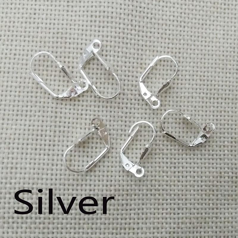 50pcs Antique Mini Fishhook Hook Pendant Connector Fit Earrings Dangle