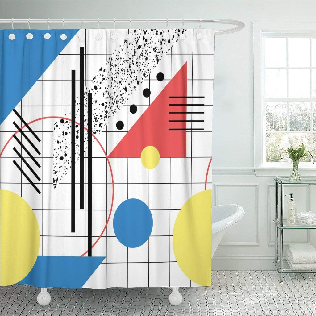 Dachshund Bathroom with 12 Hooks Shower Curtains Modern Bathroom Accessories Fashion Polyester Fabric Machine Washable Waterproof Shower Curtain 60 X 72 Inches