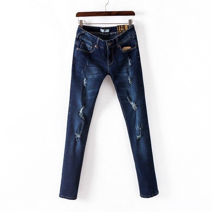 New 2017 Denim Pants For Women Ripped Jeans Women Skinny Blue Jeans Woman Elastic Slim Jean Female Femme Sexy Hole Denim S2037 1000ml glass measuring cylinder