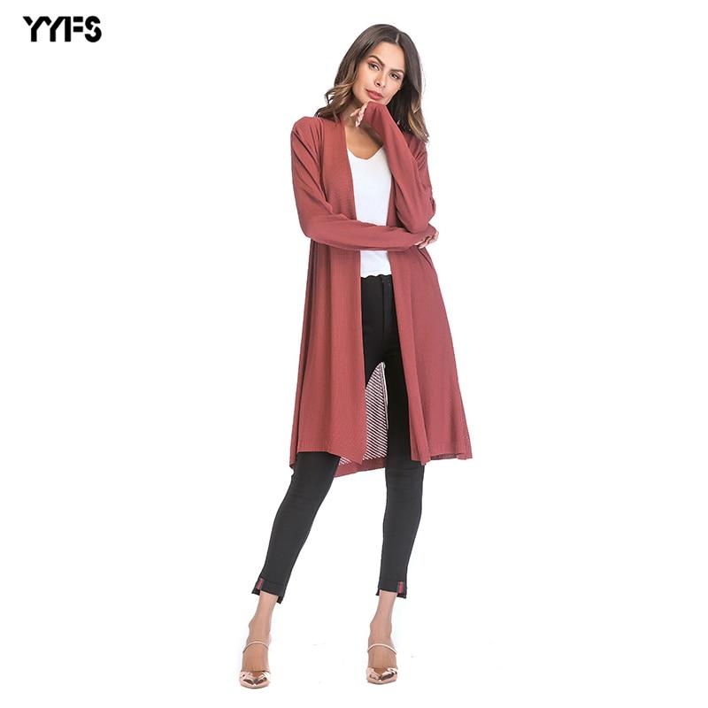 2018 delle Donne di Stile Sottile Openwork Cappotto Del Maglione di Colore Solido Drape Cardigan Scialle Punto Aperto Streetwear Scava Fuori I Vestiti