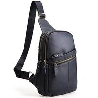 Men Retro Messenger Bags Genuine Leather Chest Pack Casual Men S Travel Shoulder Bag Crossbody Bags