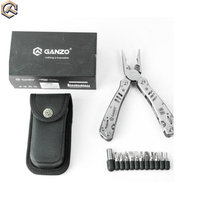 Ganzo G302H Tungsten Exchangeable Blade Multi Pliers Tool Kit bag Combination Stainless Steel Folding Knife long nose Pliers