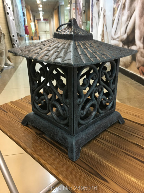 H Potter Pantheon Decorative Candle Lantern Patio Tabletop Craftsman Large  Indoor Outdoor