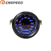 CNSPEED 2 52mm automatic acceleration PSI tobacco display blue LED light car dashboard instrument YC100179