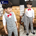 Autumn of 16 new boys suits the Chinese children long sleeved shirt vest three piece suit fashionable tide