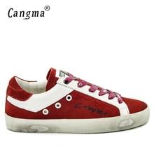 CANGMA Italien Marke Casual Männer Schuhe Frühjahr Herbst Red Handmade Kuh Wildleder Vintage Mann Freizeit Schuhe Zapatos Hombre Große Größe