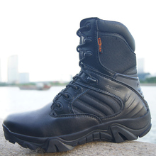 2016 Homens bot Exército Militar Tático Botas de Deserto botas de Combate Ao Ar Livre Viagem Caminhadas Botas botas Ankle Boots de Couro Outono inverno