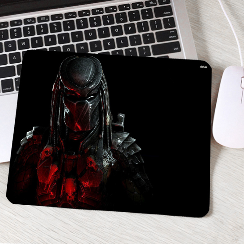Mairuige Small Size 220x180x2MM Rubber Mini Pc Computer Gaming Mousepad Predator Warriors Pattern Table Desk Mouse Pad Play Mat недорго, оригинальная цена