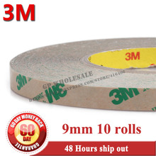 10 rolls 9mm*55 meters, 0.13mm Thickness, 2 Sides Adhesive Tape, High Temperature Withstand, 3M 468MP, 200MP Adhesive 0017