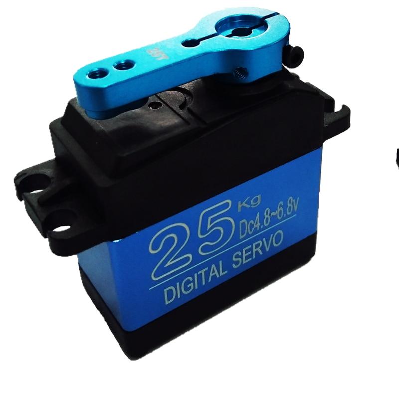 Livraison Gratuite NOUVEAU DS3325MG mise à jour RC servo 25 KG full metal gear digital servo baja servo Étanche version pour voitures RC jouets
