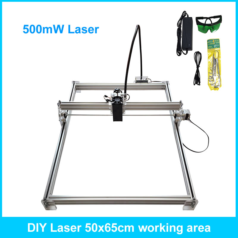 500mW diy laser engraving machine 50*65cm laser engraver carving machine 500mw laser
