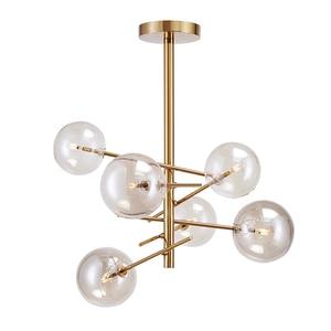 Image 2 - Modern personality magic beans glass pendant lamp designers tree branches glass balls Hanging lamp Modern light fixture