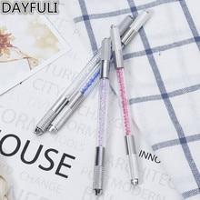 1xMakeup Crystal Acrylic Manual Tattoo Pen Microblading Permanente Ceja Herramientas