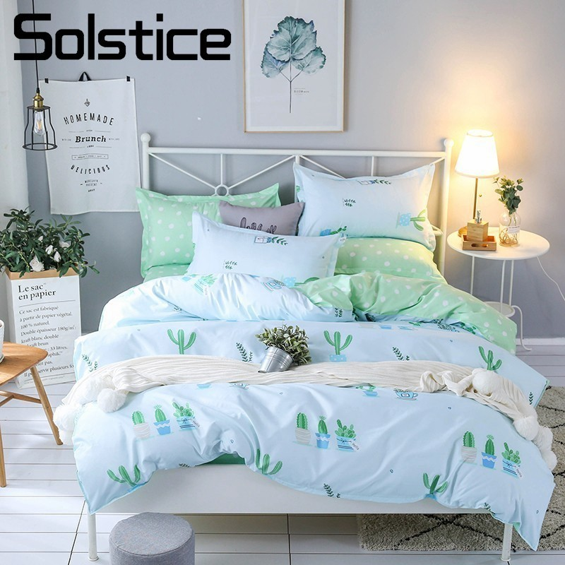 Solstice Pillowcase Bedding-Sets Bed-Sheet Duvet-Cover Bed Linen Home-Textile Soft Girl