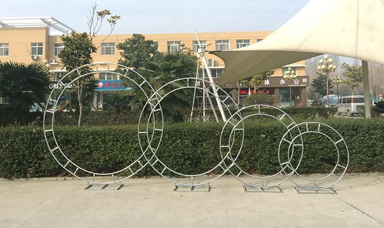 Nupcial Anel Arco Quadro Fundo Decoração Flor Grande Rodada de Ferro Moldura Da Porta de Decoração De Casamento Adereços