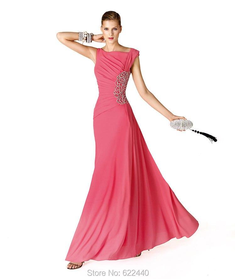 Estilo Simple baile vestidos largos con cuentas de noche de fiesta ...