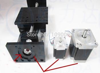Husillo de bolas lineal diapositivas GX150 * 155mm 1605, 1610, 500mm eficaz de Nema 23 Motor de pasos Fase de Movimiento Lineal doble bloque
