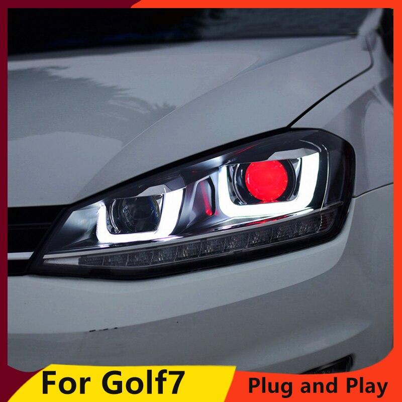 Car Styling Head Lamp for IX35 Headlights New Tuscon 2010 2015 LED Headlight LED DRL Bi