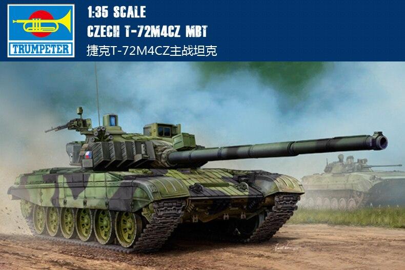 Trumpet 1/35 Czech T-72M4CZ Main Battle Tank 05595 Assembly Model Building Kits Toy trumpet 1 35 czech t 72m4cz main battle tank 05595 assembly model