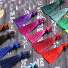 Mibrow 10pcs/lot 8cm Multicolor Cotton Silk Tassel Cords for