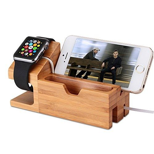 Wooden For Apple iPhone Watches Android Docking Station,Anniversary Gifts Christmas Day Bamboo Charging S8 X 8 7 i Watch Holder