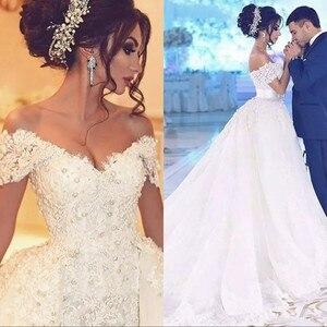 Image 4 - Дубай Русалка Свадебные платья со съемной юбкой женские События платье для свадьбы Жемчуг Кружева Свадебные платья Милая