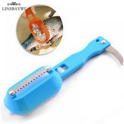 Fish Tools Fast Cleaning Fish Skin Scales Remover knife Shaver Cleaner Descaler Skinner Scaler Fishing Tools Kitchen Accessories