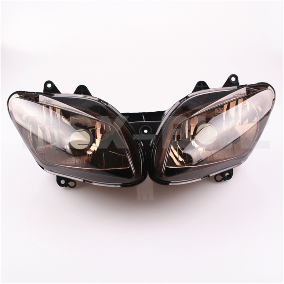 Motorcycle Front Lighting Headlamp  Headlight Set for Yamaha YZF R1 1000 2002 2003 Tawny High Quality 1 set motorcycle front