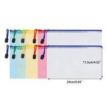 10 штук молнии файл сумка документа сетки мешок многофункциональный мешки для хранения товары для офиса дорожные аксессуары, 5 цветов