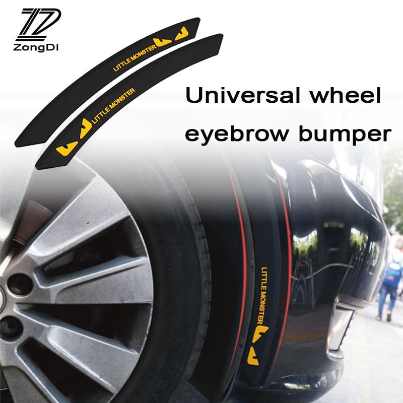 ZD Car Wheel eyebrow For Kia Rio 3 Ceed Toyota Corolla 2008 Avensis C-HR RAV4 Mazda 3 6 Decorative Anti-collision Strip Sticker