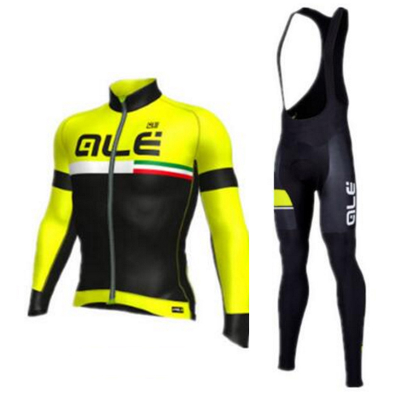 2017 ALE Team Men Spring/Autumn Cycling Suits 4 Color Cycling Clothing Riding Clothing Set with 9D Gel Pa