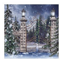 buy christmas village backdrop and get free shipping on aliexpress com