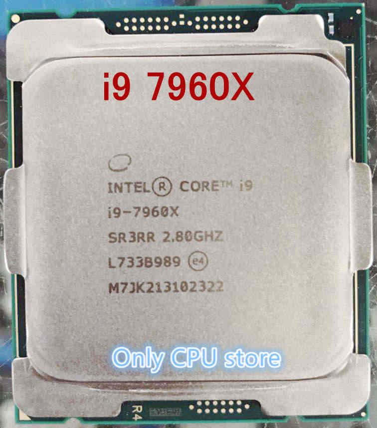 الأصلي i9 7960X i9-7960X معالج وحدة المعالجة المركزية 2.8GHZ LGA2066 16-Core خدش قطع شحن مجاني