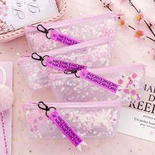 1 шт пенал sakura pen bag простая масляная прозрачная лента
