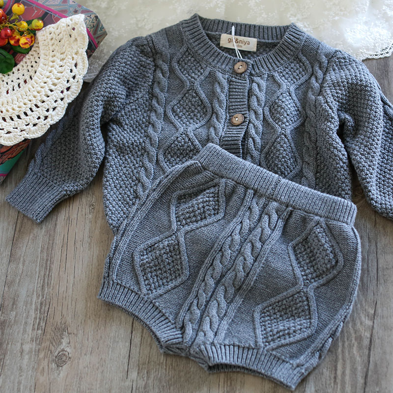 0777487934ba High Quality Baby Girls Cardigan Girl Sweaters Sets Turtleneck ...