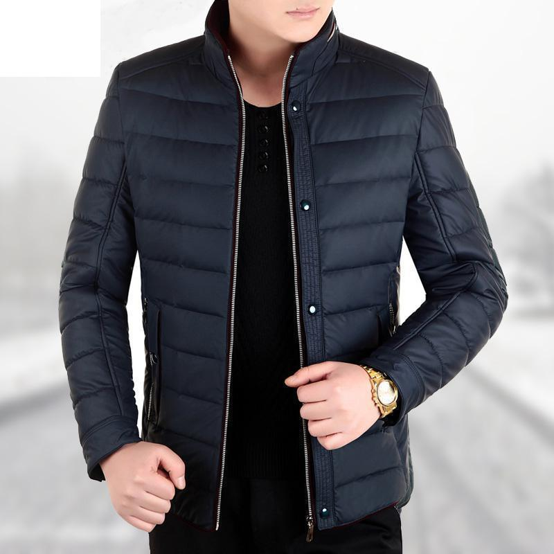 2017 Winter New Male Cotton padded Jacket Men s Clothing Thickening Down Cotton Jacket Slim Plus