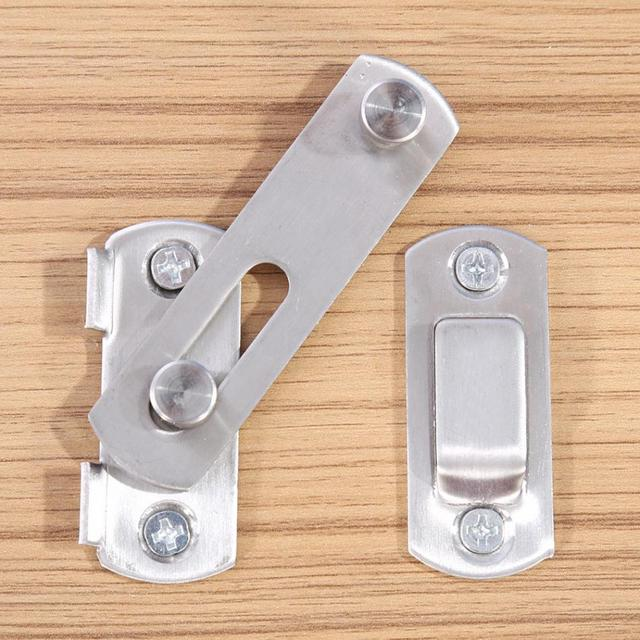 Walfront Hasp Latch Stainless Steel Hasp Latch Lock Sliding Door