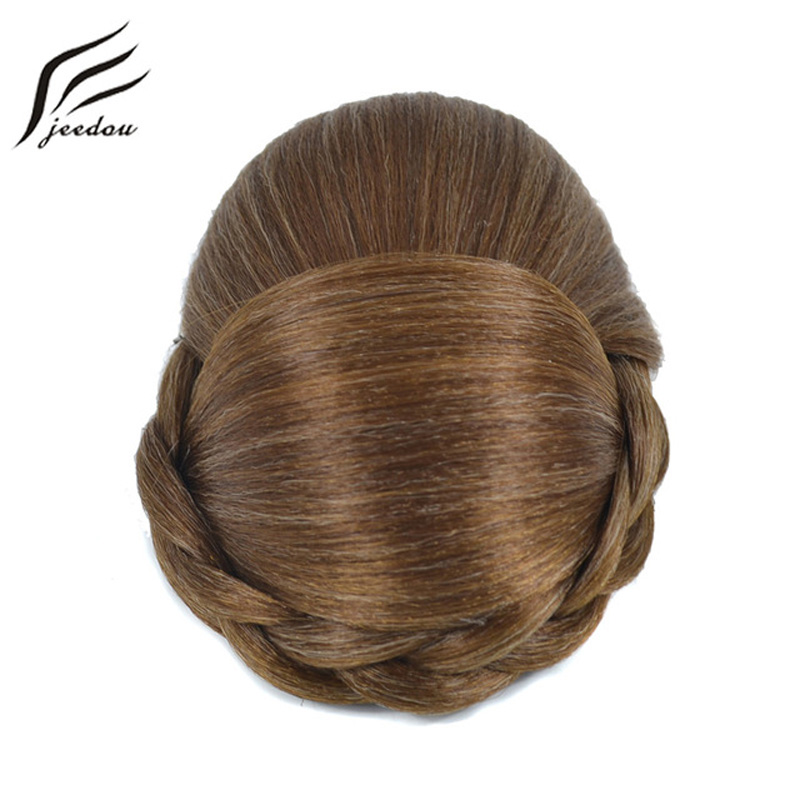 jeedou J-036-1-1 Synthetic Braided Chignon Clip On Hair Bun Piece Updos Cover Hair Women's Donut Grace And Delicacy